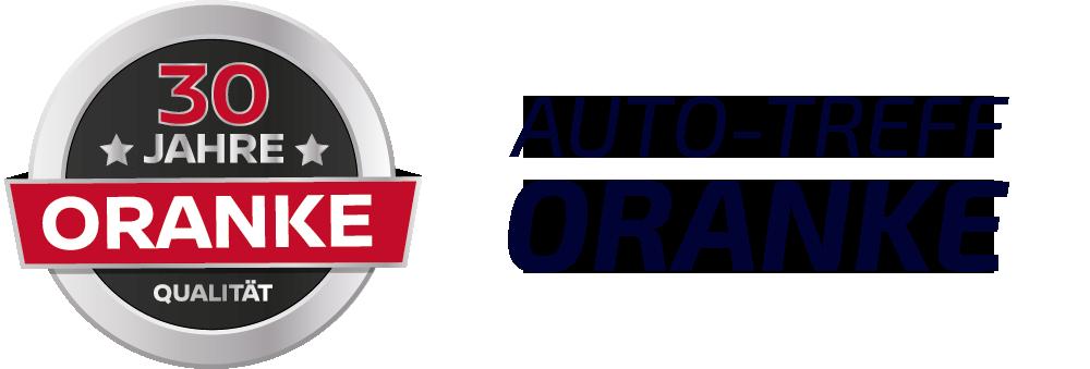 Auto-Treff ORANKE Kreislogo mit Schriftzug rechts daneben